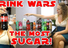 Shocking Sugar Amounts In Common Drinks! Food Battle, Nutrition & Diet Info Worst Beverages